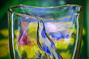 Garden Scene Glass Art Prints - Vinsanchi Glass Art-1 Print by Vin Kitayama