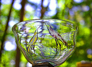 Garden Scene Glass Art Prints - Vinsanchi Glass Art-4 Print by Vin Kitayama
