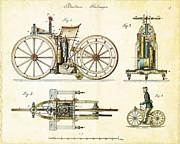 Nikki Marie Smith - Vintage 1885 Daimler Reitwagen First Motorcycle