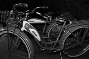 Wingsdomain Art and Photography - Vintage 1941 Boys and 1946 Girls Bicycle 5D25760 Black and White