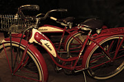 Wingsdomain Art and Photography - Vintage 1941 Boys and 1946 Girls Bicycle 5D25760 Sepia2