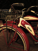 Wingsdomain Art and Photography - Vintage 1941 Boys and 1946 Girls Bicycle 5D25760 Vertical Sepia2
