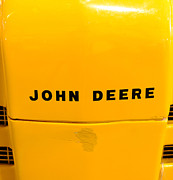 Name Prints - Vintage 1952 John Deere Tractor in Yellow Print by Paul Ward
