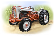 Old Ford Prints - Vintage 1962 Ford Tractor Print by Greg Eilers
