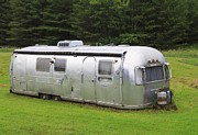 Camping Photos - Vintage Airstream Trailer by Edward Fielding