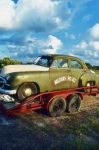 Police Art Photos - Vintage American Military Police Car by Kathy Fornal