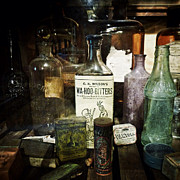 Antique Bottles Art - Vintage Apothecary by Natasha Marco