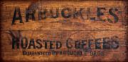 Vintage Arbuckles Roasted Coffee Sign Print by John Stephens