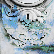Patina Mixed Media Prints - Vintage Architectural Patina in Blue Print by Adspice Studios