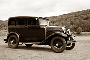 Duotone Prints - Vintage Automobile Speeding Print by Olivier Le Queinec