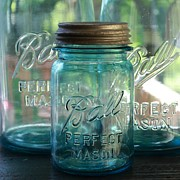 Ball Jar Prints - Vintage Ball Mason Jar Print by Tammy Franck
