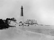 Lighthouse Digital Art - Vintage Barnegat Lighthouse  by Digital Reproductions