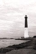 Barnegat Lighthouse Framed Prints - Vintage Barney Framed Print by Olivier Le Queinec