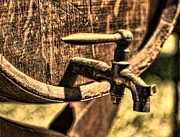 Wine Barrel Photos - Vintage Barrel Tap by Paul Ward