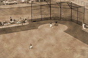 Catcher. New York Framed Prints - Vintage baseball playing Framed Print by RicardMN Photography