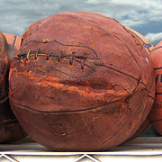Basketballs Art - Vintage Basketball by Art Block Collections