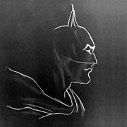 Superhero Drawings - Vintage Batman Black Knight by Bruce Stanfield