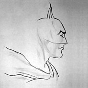 Superhero Drawings - Vintage Batman White Knight by Bruce Stanfield