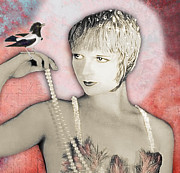 Ziegfeld Girl Prints - VINTAGE BEAUTY Louise Brooks Print by Carolyn Slattery