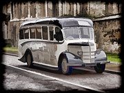Bedford Digital Art - Vintage Bedford Bus 1947 by Peter Chapman