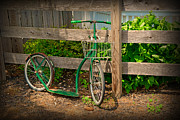 Basket Photos - Vintage Bicycle at Rest - Painterly by Paul Ward
