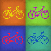 Featured Art - Vintage Bicycle Pop Art 1 by Irina  March