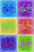 Cycling Art Metal Prints - Vintage Bicycle Pop Art 2 Metal Print by Irina  March
