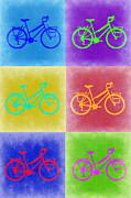Vintage Bicycle Pop Art 2 Print by Naxart Studio