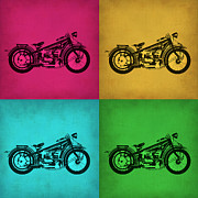 Biker Prints - Vintage Bike Pop Art 1 Print by Irina  March