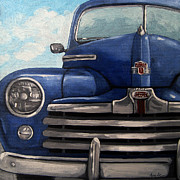 Linda Apple - Vintage Blue Ford car...