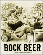 Bier Prints - Vintage Bock Beer - 1879 Print by Digital Reproductions