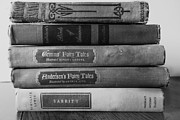 Antique Books Prints - Vintage Book Stack  Print by Ann Powell