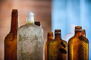 Vintage Bottles Print by Adam Romanowicz