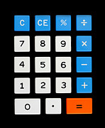 Accountant Photos - Vintage calculator keypad by Jim Hughes