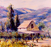 Napa Valley Vineyard Paintings - Vintage California by J Michael Orr