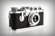 Aperture Framed Prints - Vintage Camera Framed Print by Chevy Fleet