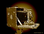 Stock Photo Digital Art - Vintage Camera in Sepia Tones by Carol F Austin