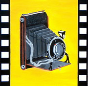 Camera Painting Posters - Vintage Camera Poster by Karyn Robinson