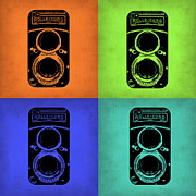 Photography Digital Art Prints - Vintage Camera Pop Art 1 Print by Irina  March