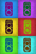 Photography Digital Art Prints - Vintage Camera Pop Art 2 Print by Irina  March