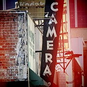 Vintage Camera Sign Print by Nina Prommer