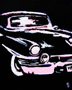 50s Mixed Media - Vintage Car by Venus Art