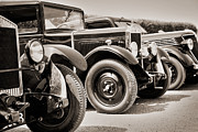 Antique Automobiles Framed Prints - Vintage cars Framed Print by Delphimages Photo Creations