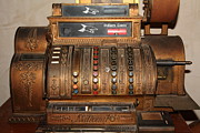 Cellar Posters - Vintage Cash Register In The Cellar Room At the Swiss Hotel In Sonoma California 5D24456 Poster by Wingsdomain Art and Photography