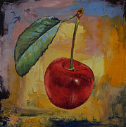 Red Leaf Paintings - Vintage Cherry by Michael Creese