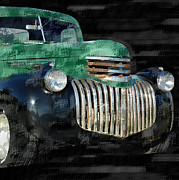 Classic Pickup Metal Prints - Vintage Chevrolet Pickup 1 Metal Print by Betty LaRue