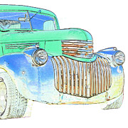 Classic Pickup Posters - Vintage Chevrolet Pickup 2 Poster by Betty LaRue