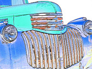 Classic Pickup Metal Prints - Vintage Chevrolet Pickup 3 Metal Print by Betty LaRue