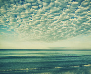 Gulf Breeze Posters - Vintage Clouds Poster by Kim Hojnacki