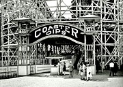 Roller Coaster Photo Framed Prints - Vintage Coaster Framed Print by Benjamin Yeager
